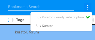 Kurator Purchase Button