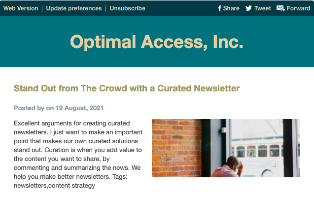 curated newsletter